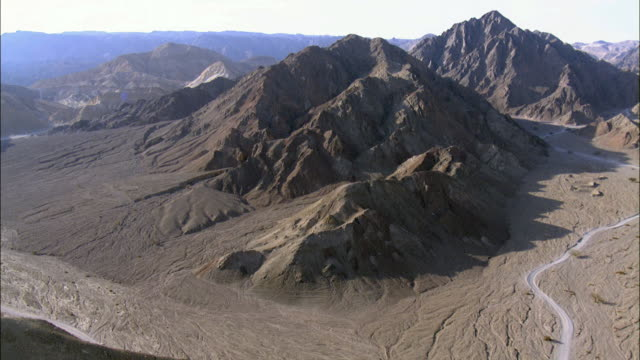aerial mount solomon near the city of eilat, southern negev, israel, israel - red sea stock videos & royalty-free footage