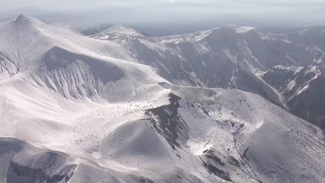 AERIAL, Mount Tokachi, Hokkaido, Japan