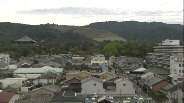 mount wakakusa borders nara, japan. - nara prefecture stock videos and b-roll footage