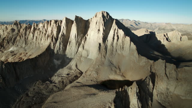 mount whitney, the highest peak in the continental united states. - granite rock stock videos & royalty-free footage