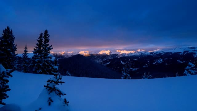 mountain alpenglow - gore range stock videos and b-roll footage