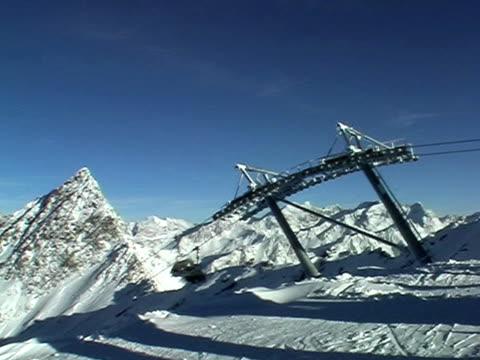Mountain and ski lift