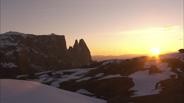 mountain and winter landscapes, south tyrol-italy - trentino alto adige südtirol video stock e b–roll