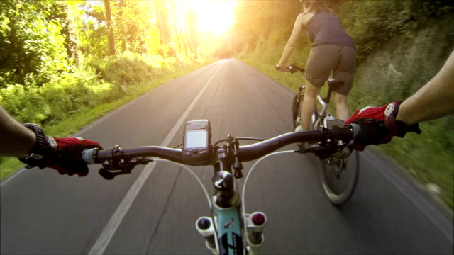 mountain bicycle video: on a road in tuscany - mountain bike stock videos & royalty-free footage