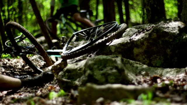 mountain bike accident - misfortune stock videos & royalty-free footage
