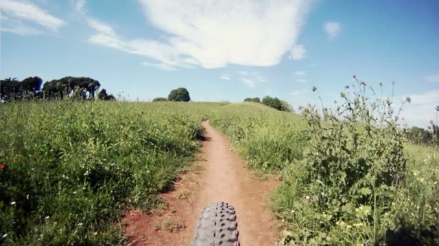 Mountain Bike Personal Perspective Mounted Movie
