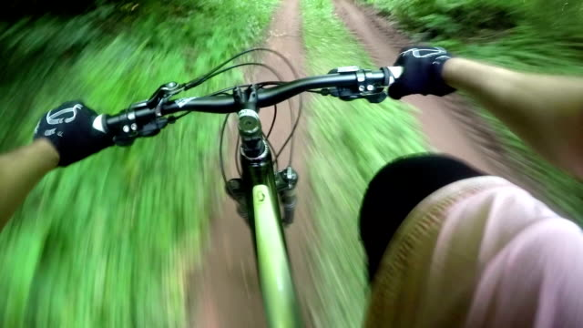 Mountainbike rider, POV