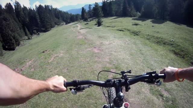 Mountain Bike Video: a Single Track on the Alps