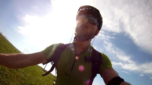 mountain bike video: biker view - mountain bike stock videos and b-roll footage