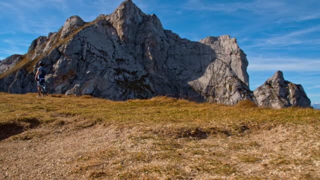 ws mountain biker in julian alps - julian alps stock videos and b-roll footage