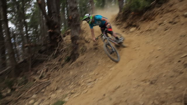 mountain biker - extreme sports stock videos & royalty-free footage