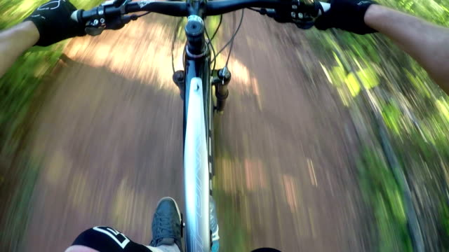 POV mountain biker