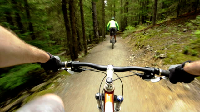 mountain bikers pov - mountain bike stock videos & royalty-free footage