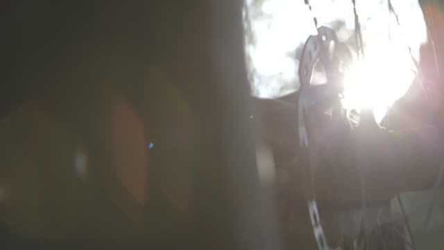 mountain biking bmx camping trail riding creek water splash - speichen stock-videos und b-roll-filmmaterial
