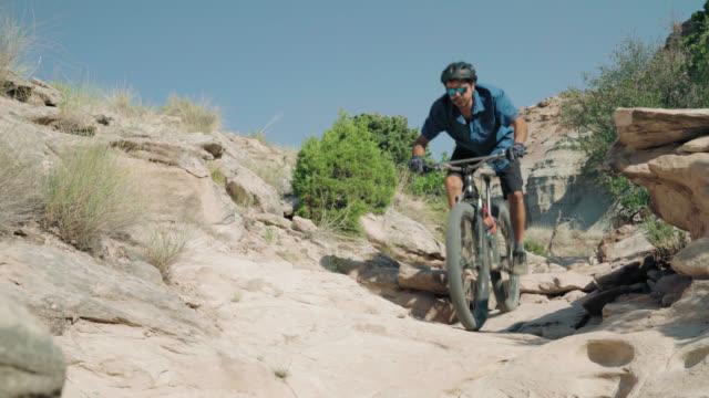Mountain Biking Down Dangerous Terrain