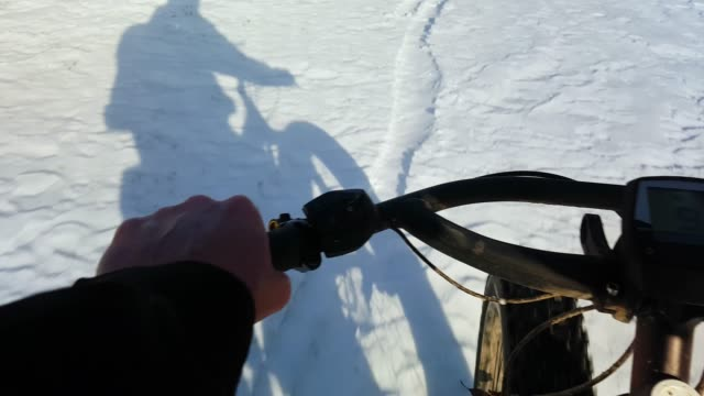 Mountain Biking On Snow Ground