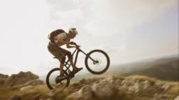 TS SLO MO mountain biking on the rocky top