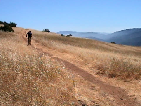 mountain biking the coastal range - lockdown viewpoint stock videos & royalty-free footage