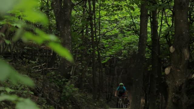 mountain biking - mountain biking stock videos & royalty-free footage