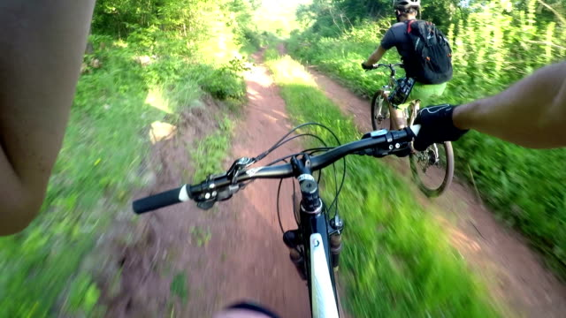 POV mountain biking
