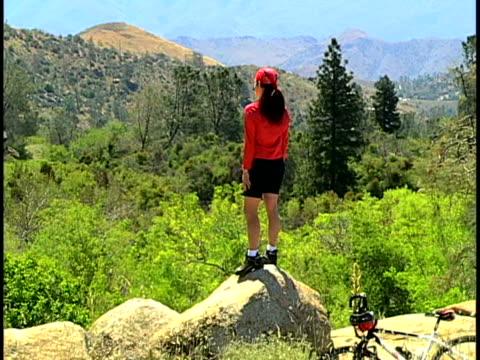 mountain biking - protective sportswear stock videos & royalty-free footage