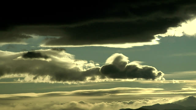 mountain clouds, timelapse - stratocumulus stock videos and b-roll footage