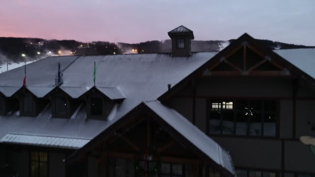 mountain creek red tail lodge - winter sport stock videos & royalty-free footage