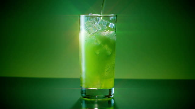 mountain dew glass pour wide star filter - dew stock videos and b-roll footage
