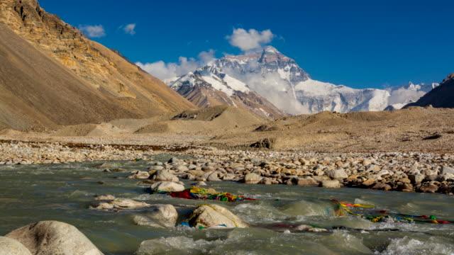 stockvideo's en b-roll-footage met berg everest, everest base camp, tibet, china - natuurwonder