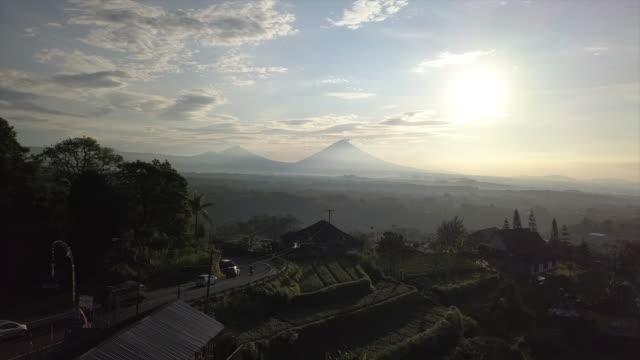mountain, farmland in village / bali, indonesia - shack stock videos & royalty-free footage
