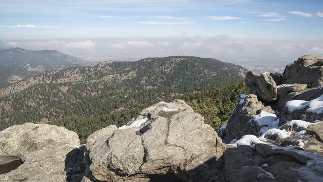 mountain inversion timelapse - boulder stock videos & royalty-free footage