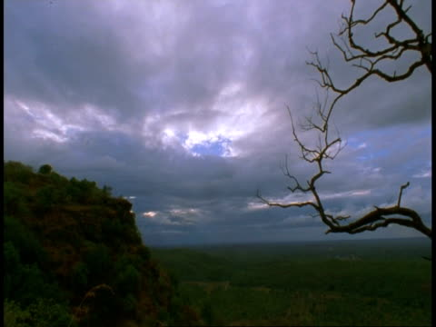 wa mountain, jungle and sky, bandhavgarh national park, india - national icon stock videos & royalty-free footage