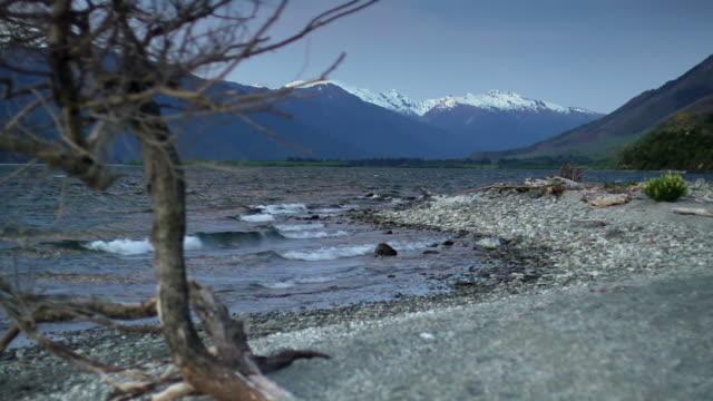 mountain lake new zealand - otago region stock videos & royalty-free footage