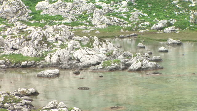 hd: mountain lake - triglav national park stock videos and b-roll footage