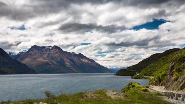 time lapse: mountain lake - otago region stock videos & royalty-free footage