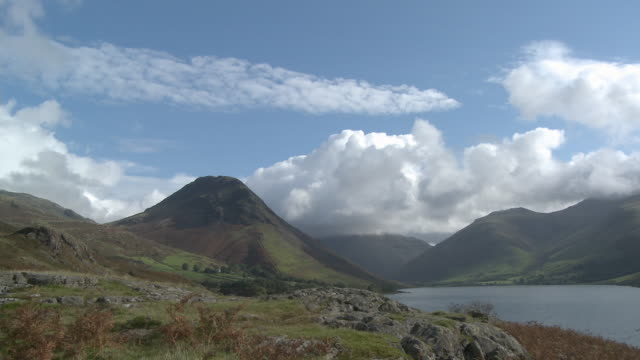 ws, mountain landscape and wast water lake, lake district national park, cumbria, england - english lake district stock videos and b-roll footage