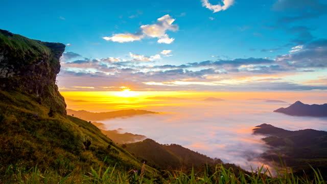 Paysage de montagne de Phu chi fa Chiang Rai, Thaïlande