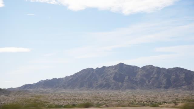 Mountain landscape, car POV
