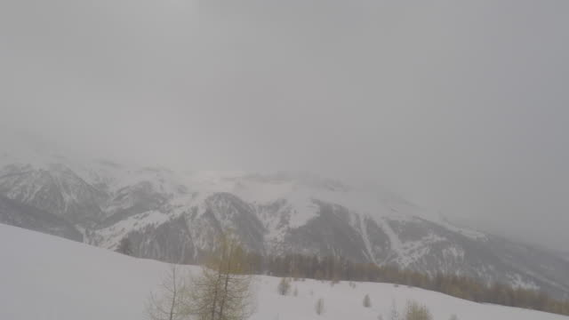 mountain landscape in winter seen from a ski lift - ski lift point of view stock videos & royalty-free footage