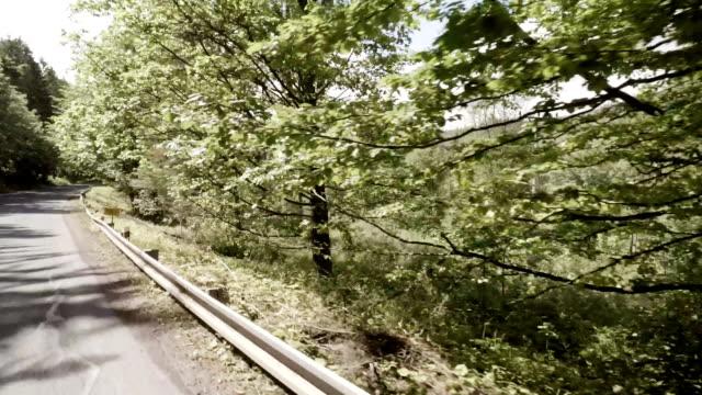 mountain landscape seen from car window - mountain ridge stock videos & royalty-free footage