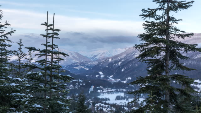 4K Mountain Landscape Time Lapse, Whistler, British Columbia, Canada