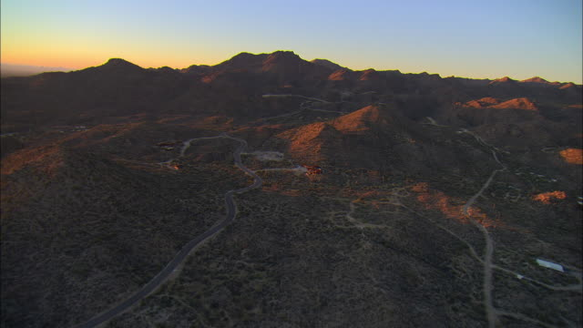 AERIAL Mountain landscape, Tucson, Arizona, USA