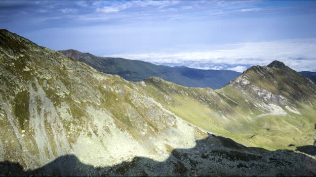 mountain landscape - transilvania video stock e b–roll