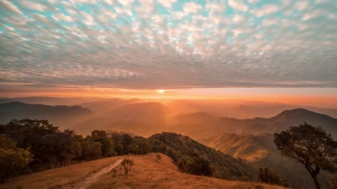 mountain landscape view point of mae hong son, thailand - horizon stock videos & royalty-free footage