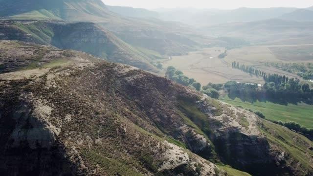 mountain landscapes near the drakensberg - drakensberg mountain range stock videos & royalty-free footage