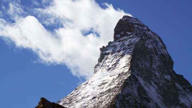 mountain matterhorn,switzerland. - switzerland stock videos & royalty-free footage