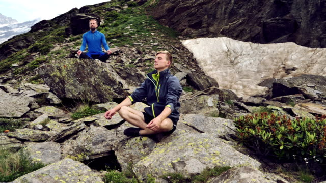 mountain meditation - mountain pose stock videos and b-roll footage