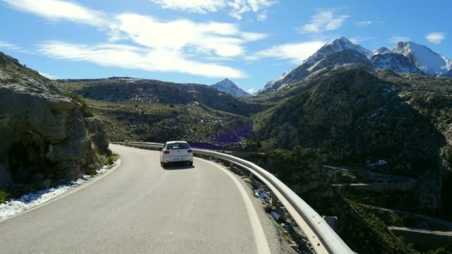 Mountain Pass Road at Coll dels Reis near Escorca with Mount Puig Major, Tramuntana Mountains, Mallorca (Majorca), Balearic Islands, Spain, Mediterranean, Europe