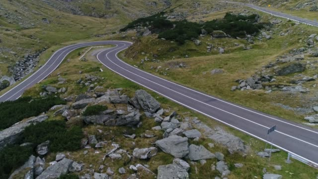 mountain pass with drone. transfagarasan road. - agility stock videos & royalty-free footage