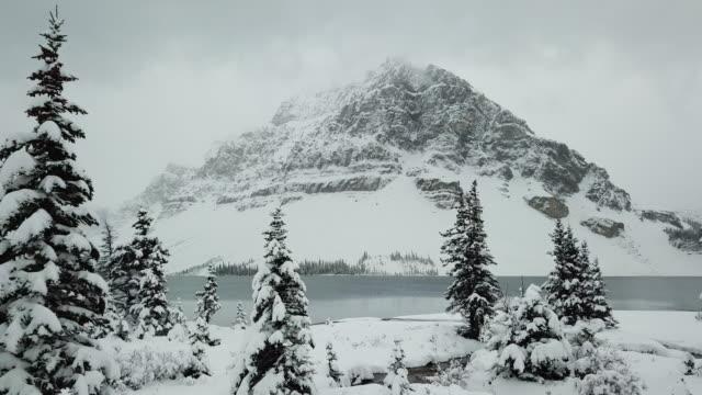 mountain peak aerial winter wonderland - motorway junction stock videos & royalty-free footage